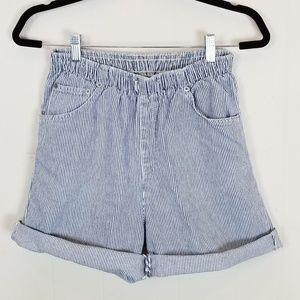 Vintage 90s Bobbie Brooks Pull On Striped Shorts
